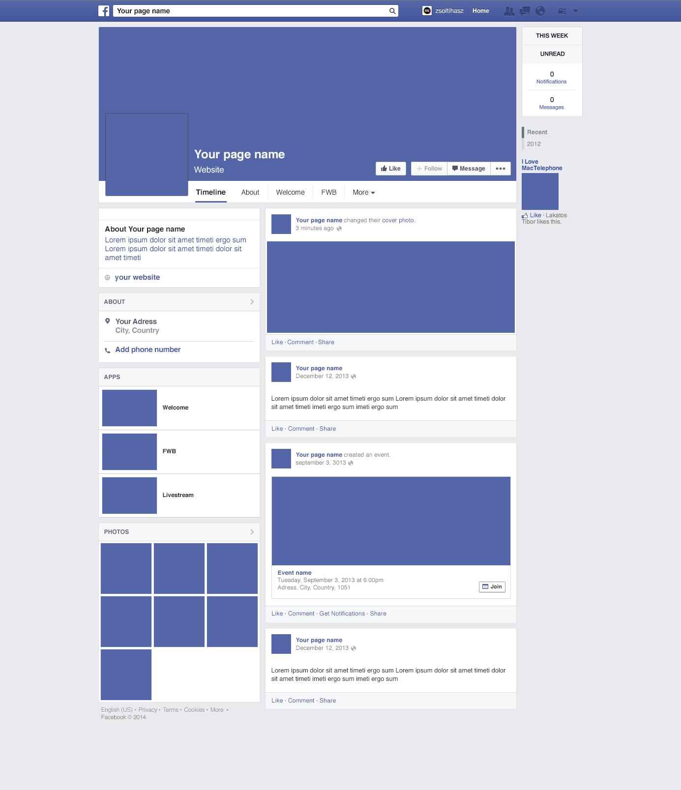 Facebook Post Template Psd Mockup  Free Download DesignFull