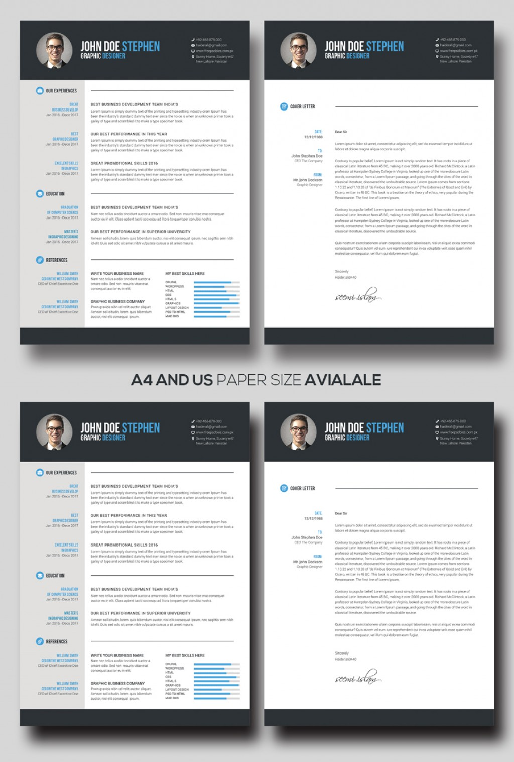 Free M Word Resume And Cv Template Idea  Ms Design Creative Download 2020Large