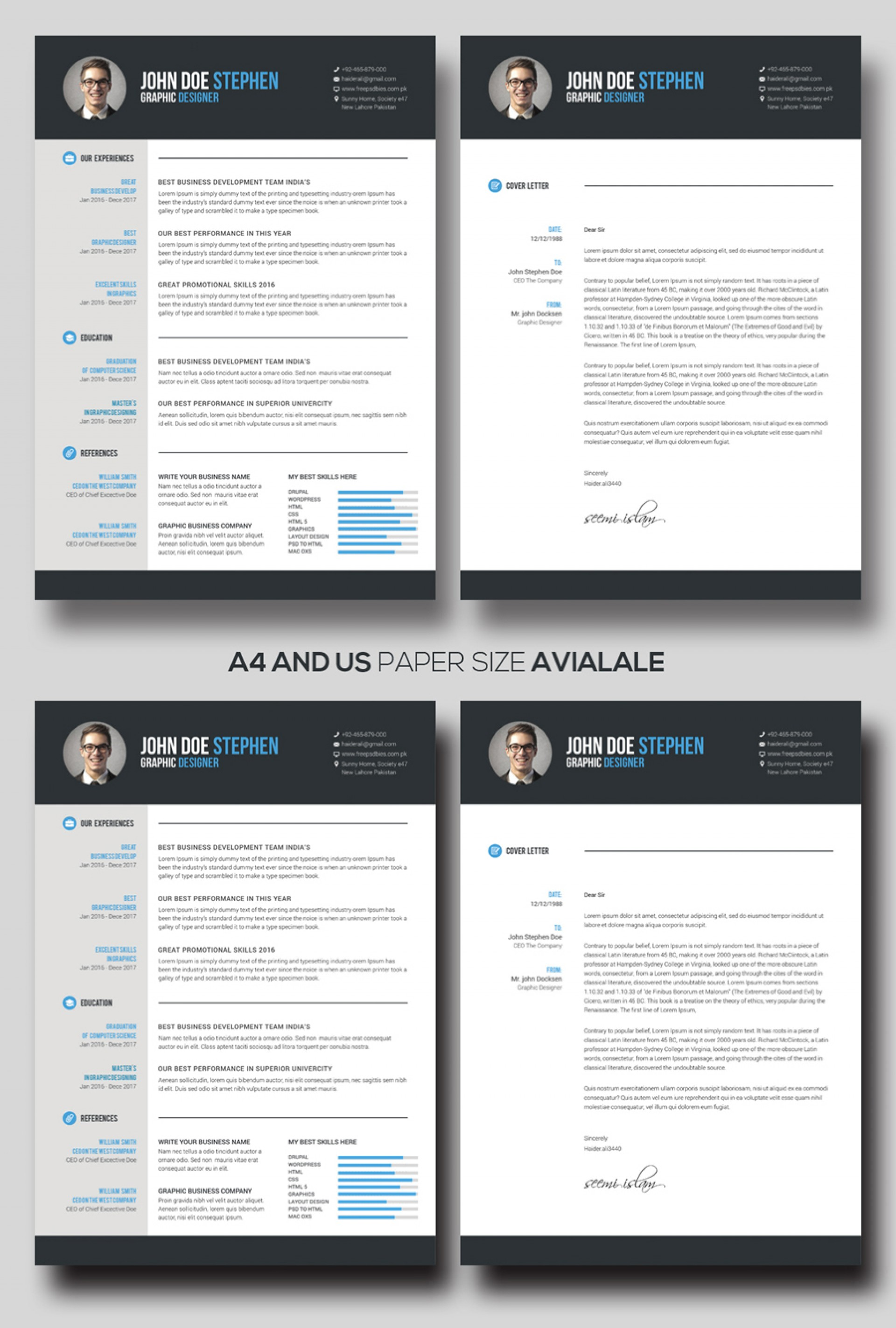 Free M Word Resume And Cv Template Idea  Ms Design Creative Download 20201920
