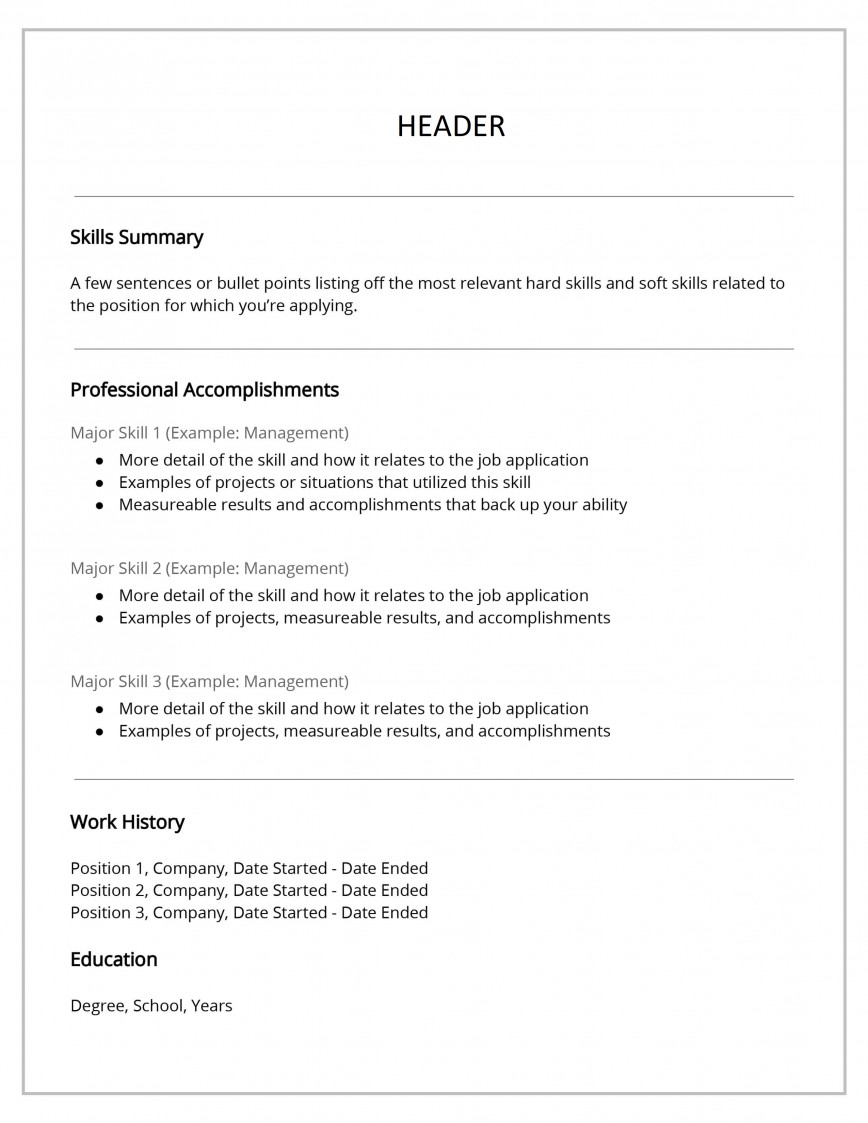 Functional Resume Template Free Download Idea  Format