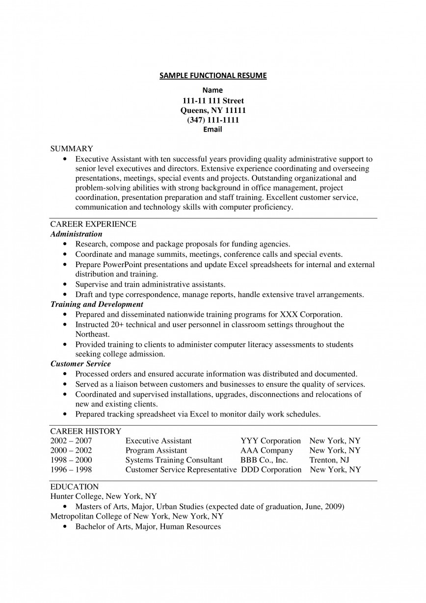 Functional Resume Template Free Download Addictionary
