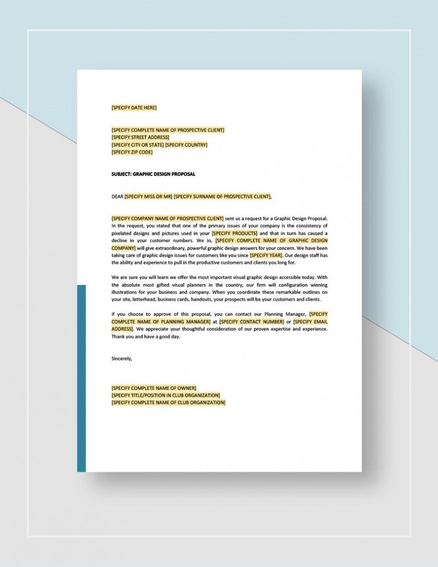 Graphic Design Proposal Template Sample Idea Jpg  Free Download