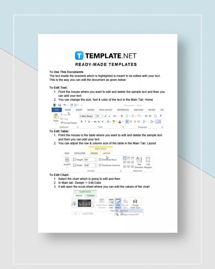 Graphic Design Proposal Template Instruction  Pdf Sample728