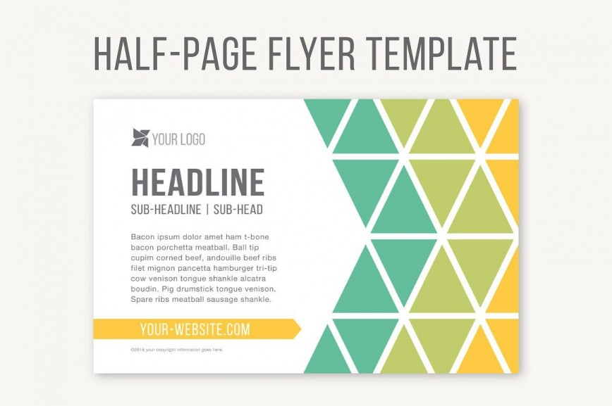 Half Sheet Flyer Template Brochure Idea  Free Word Google Doc868