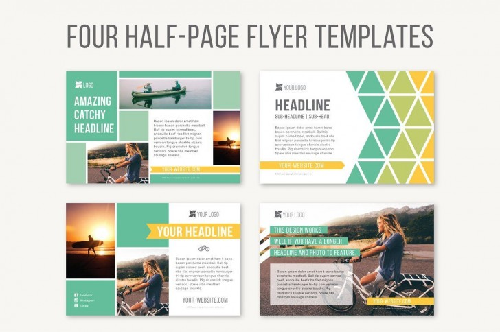 Half Sheet Flyer Template Four Page  Free Word Google Doc728