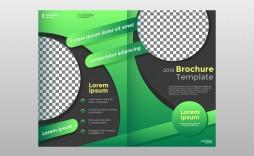 Half Sheet Flyer Template Green Fold Brochure Vector  Free Word Google Doc