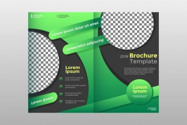 Half Sheet Flyer Template Green Fold Brochure Vector  Free Word Google Doc