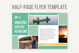 Half Sheet Flyer Template With Logo  Free Word Google Doc