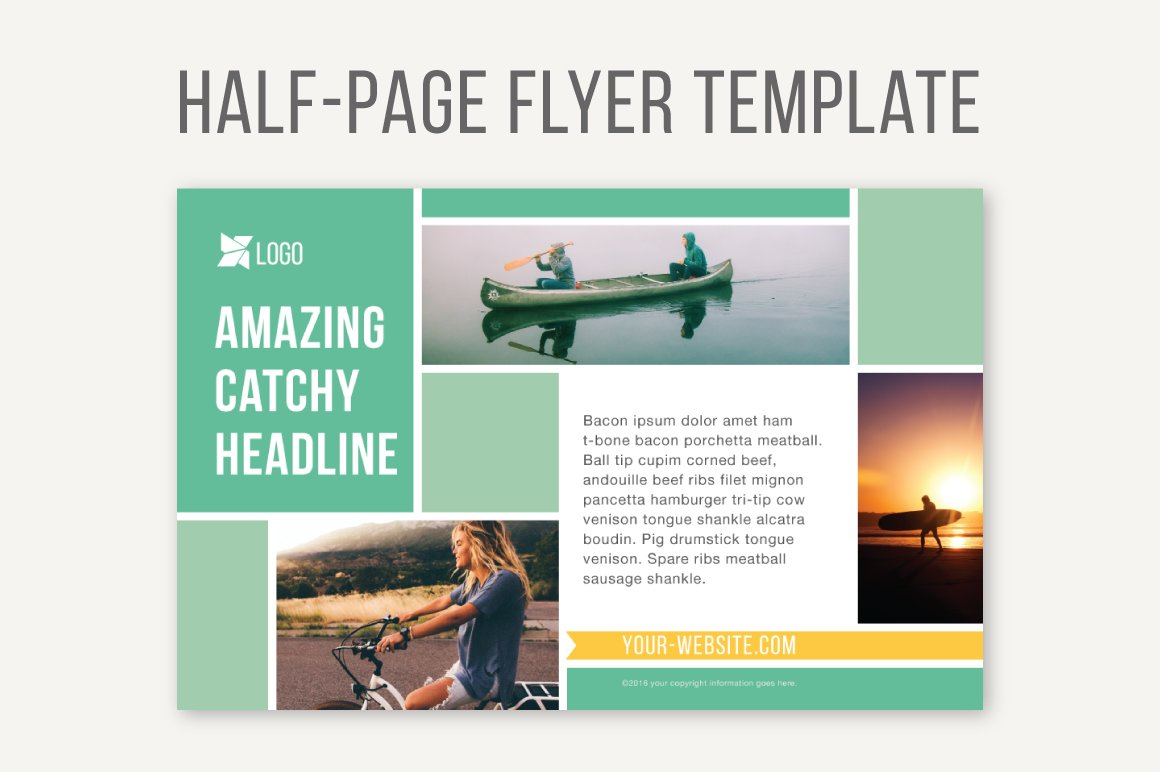 Half Sheet Flyer Template With Logo  Free Word Google DocFull
