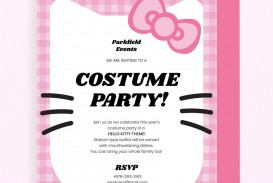 Hello Kitty Party Invitation Template Pink Jpg  Birthday Invite Editable