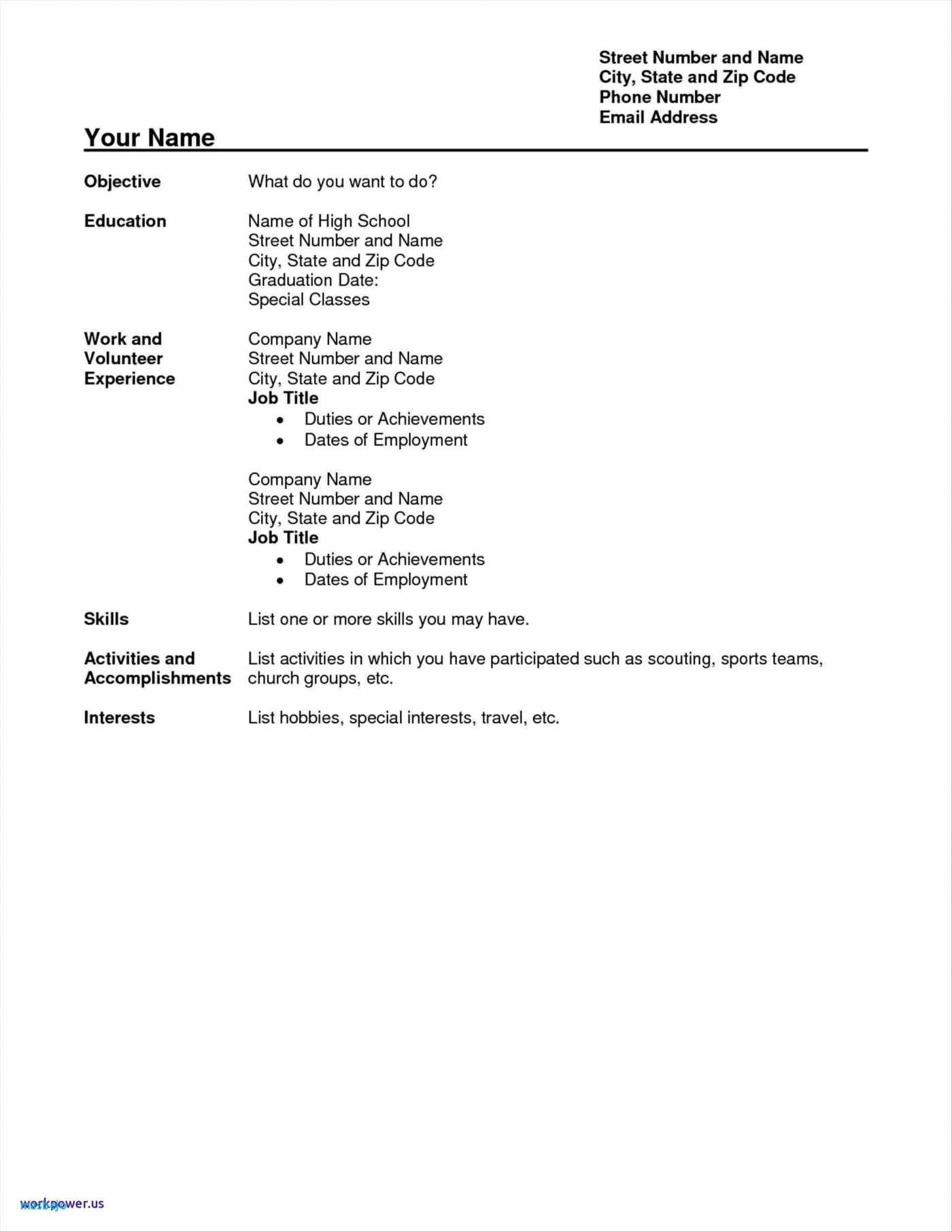 Examples Of How To Write A Resume With No Experience لم يسبق له