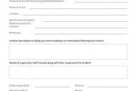 Incident Report Form Template Word Workplace  Downloadable Free