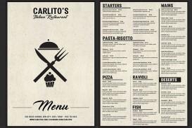 Italian Food Menu Template Free Download  Restaurant Psd Word Html