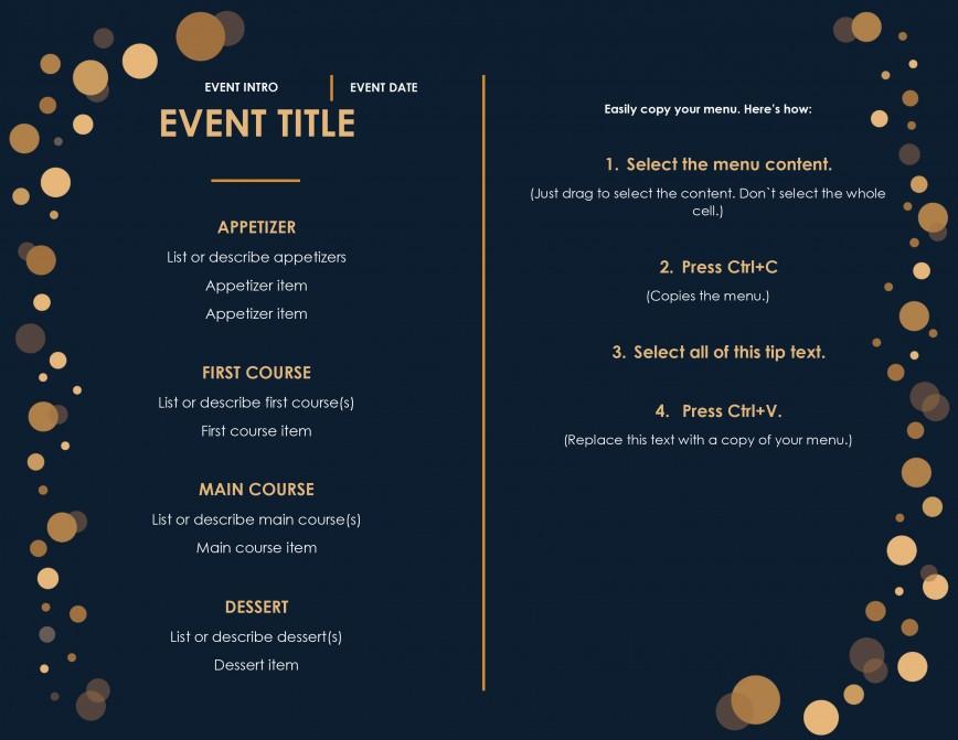 Menu Template Free Download Restaurant  Psd Word Html868