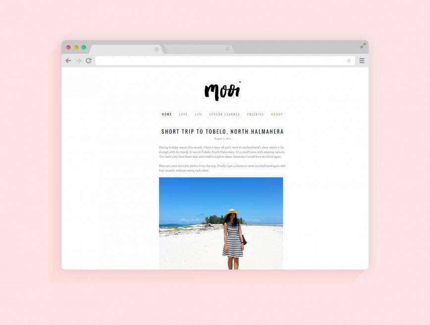Minimalist Free Wordpres Blogger Template Idea  Templates Blog Best Theme 2019 For 2018