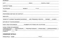 Mmu New Customer Form Template  Uk Account Setup