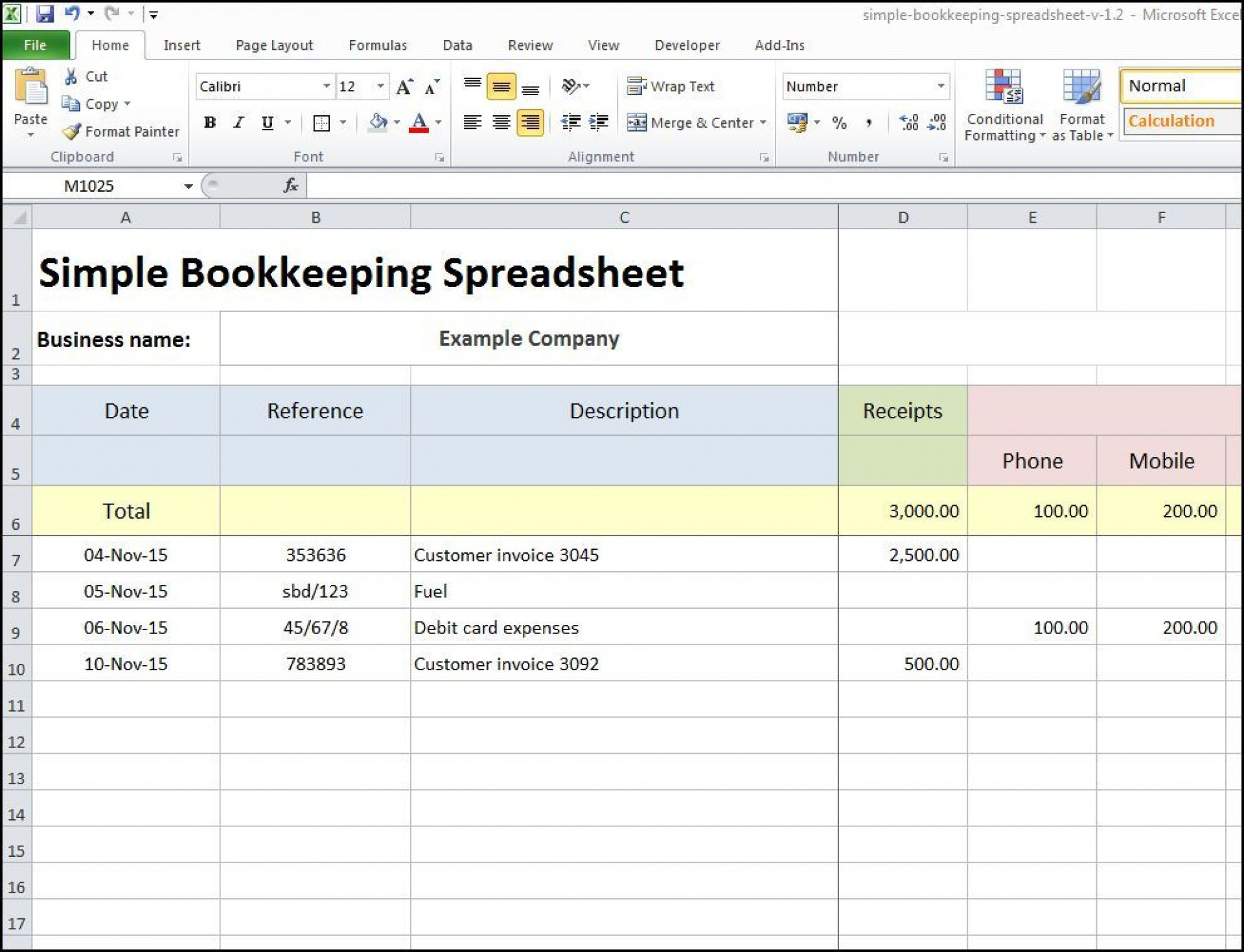 M Excel Budget Template Sample Idea  Templates Microsoft Monthly Free1920