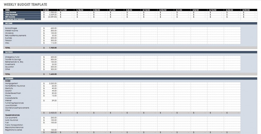 M Excel Budget Template Weekly Idea  Templates Microsoft Free Spreadsheet Office 2007