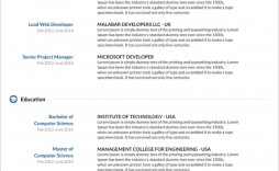 M Word Template Resume Cv  Ms Design Creative Free Download 2020