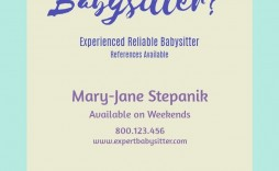 Need Free Babysitting Flyer Template  Printable Download Microsoft Word
