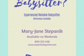 Need Free Babysitting Flyer Template  Online
