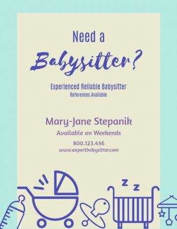 Need Free Babysitting Flyer Template  Online360