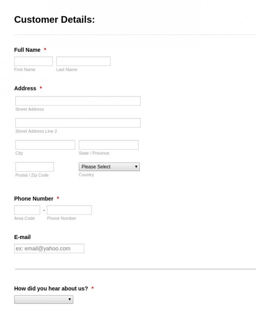 New Customer Registration Form  Template Setup Word Free
