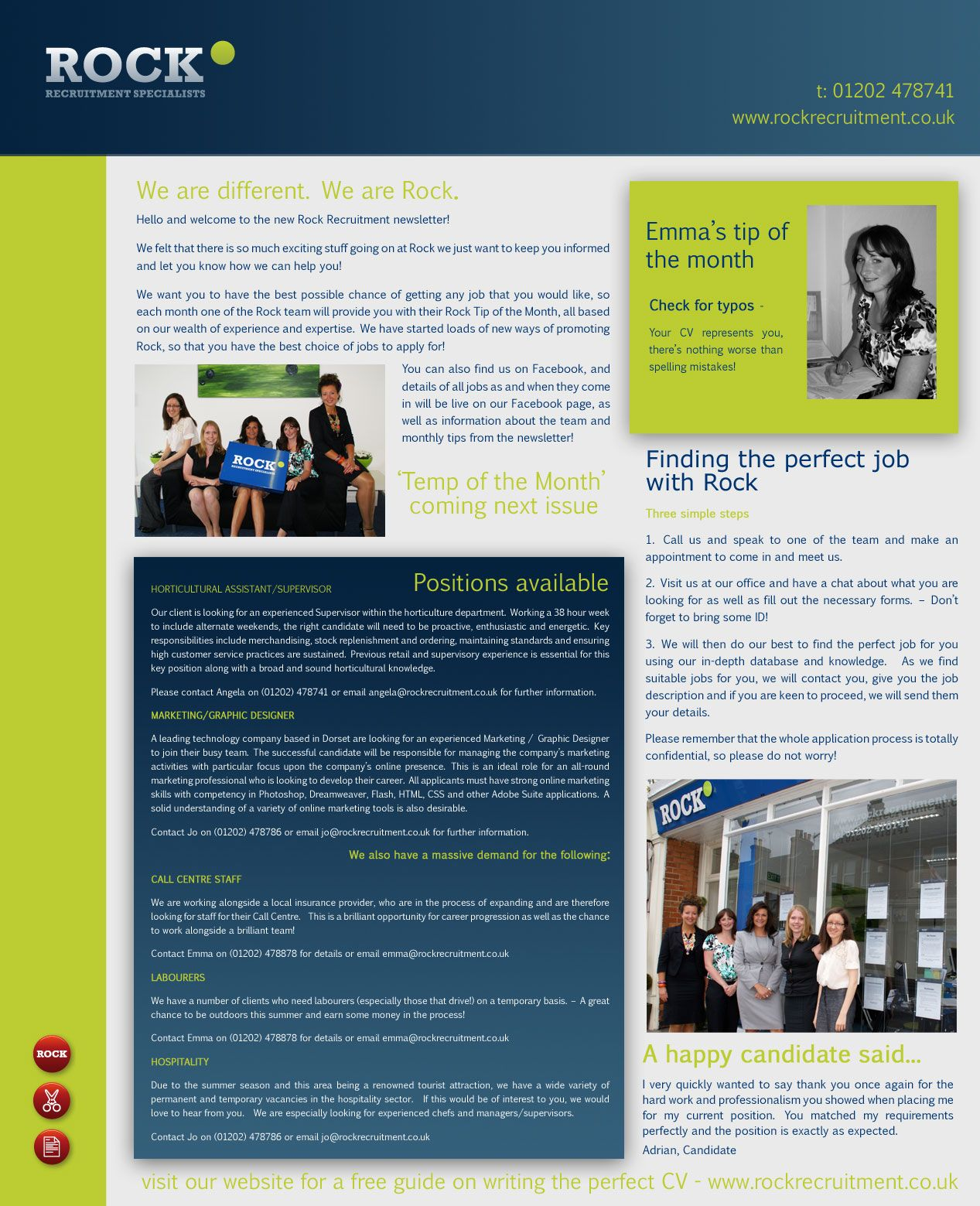 Newsletter Template Microsoft Word Recruitment Idea  Example 2007Full