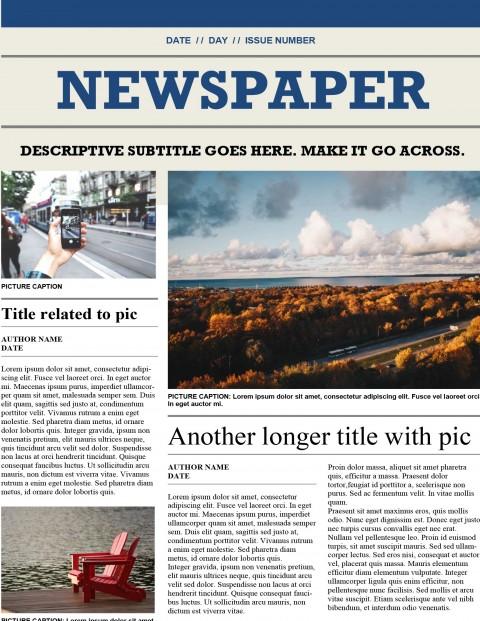 newspaper template microsoft word old vintage
