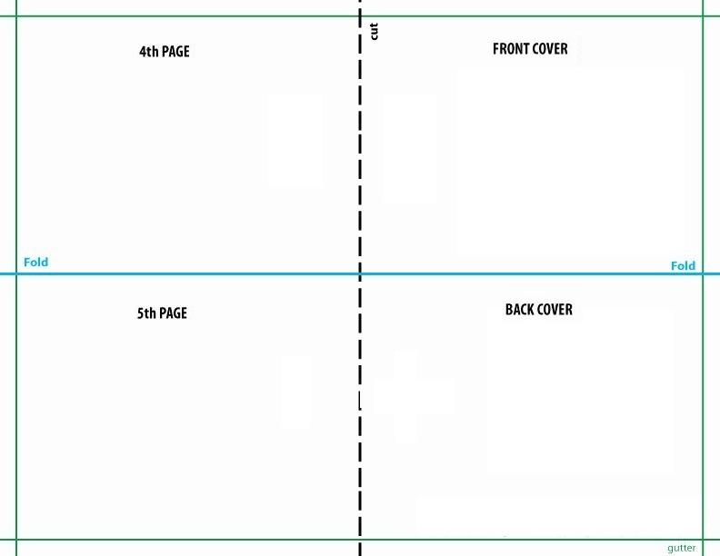 quarter fold card template  addictionary