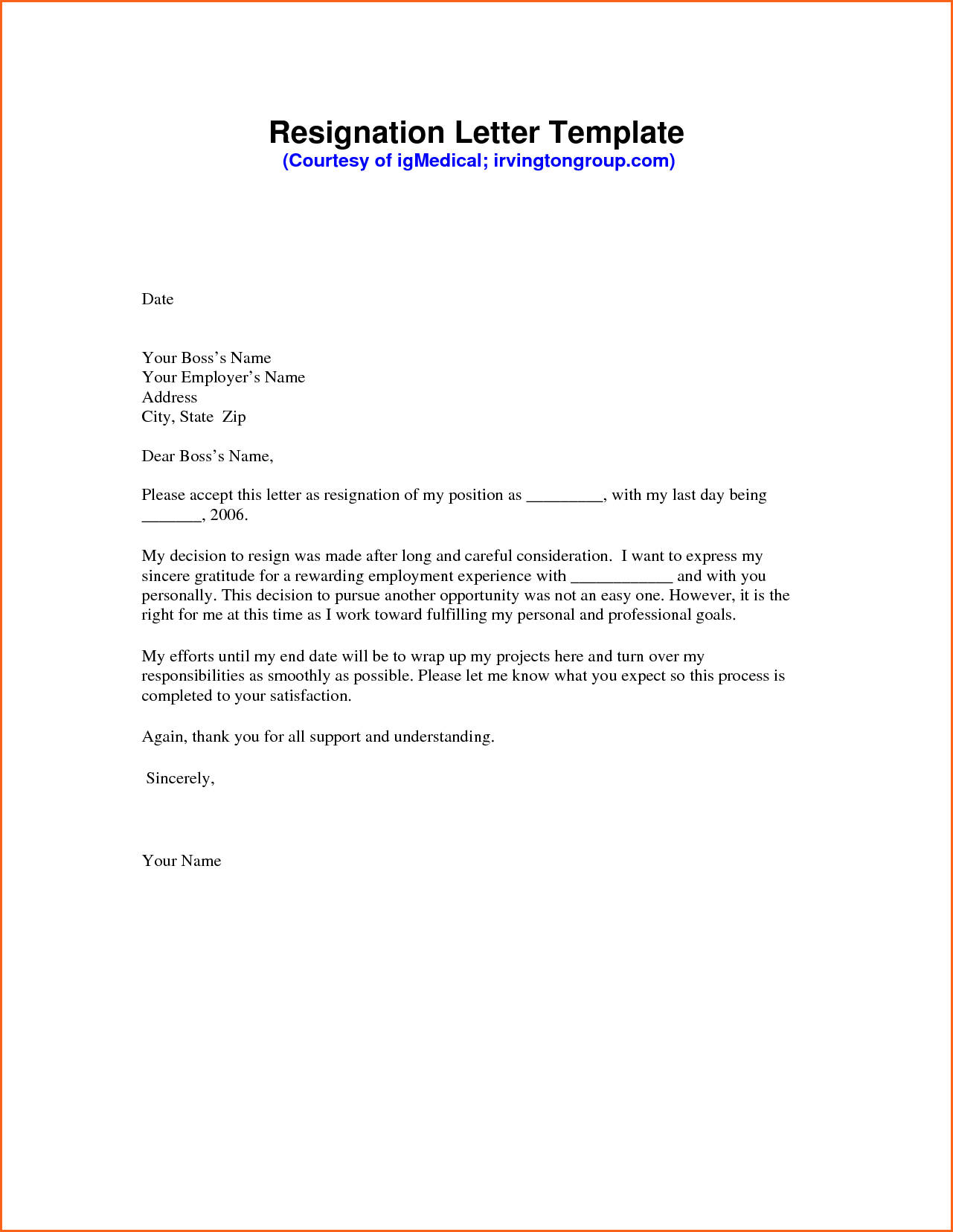 Resignation Letter Format Doc from www.addictionary.org