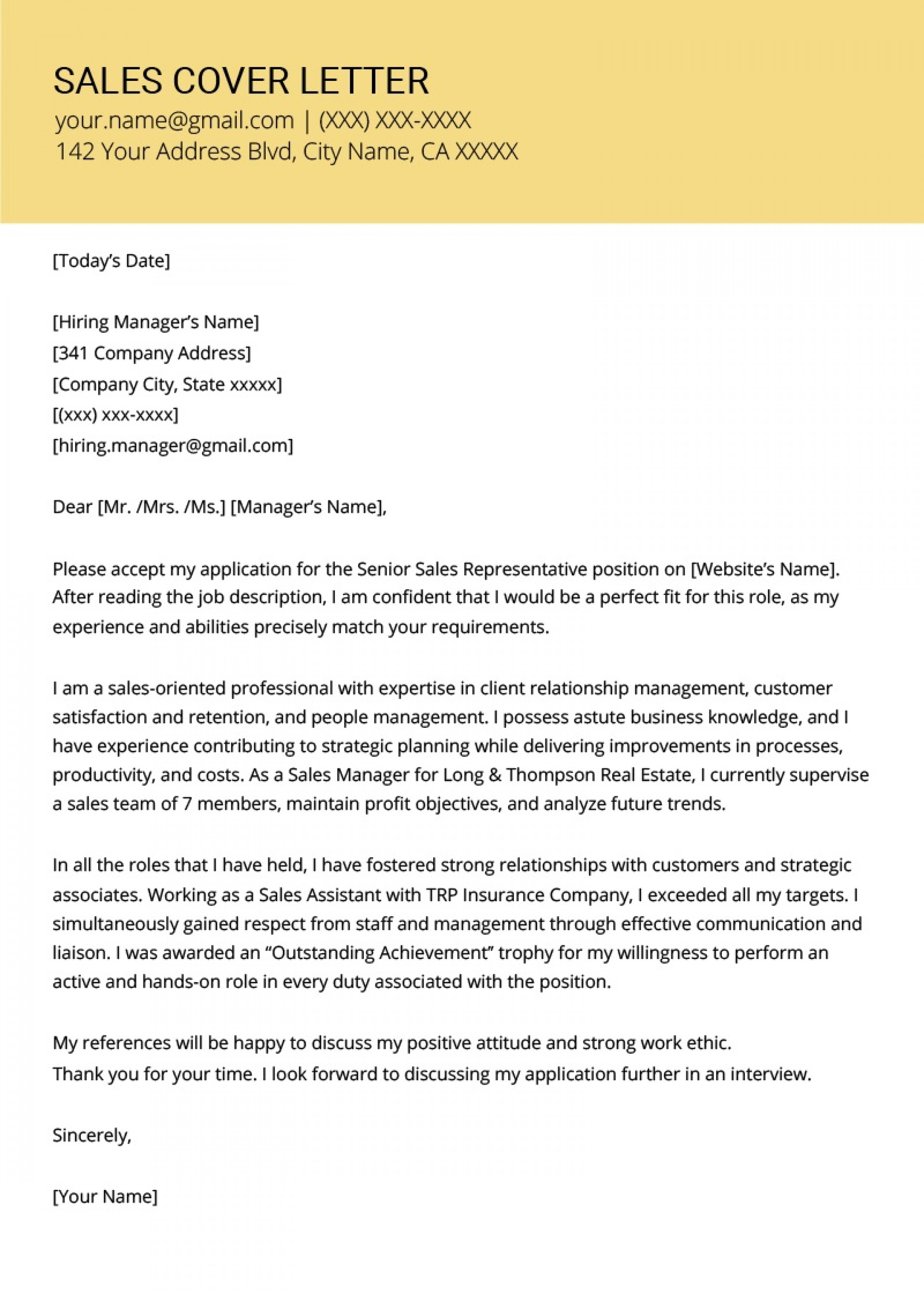 Resume Cover Letter Example Template Addictionary