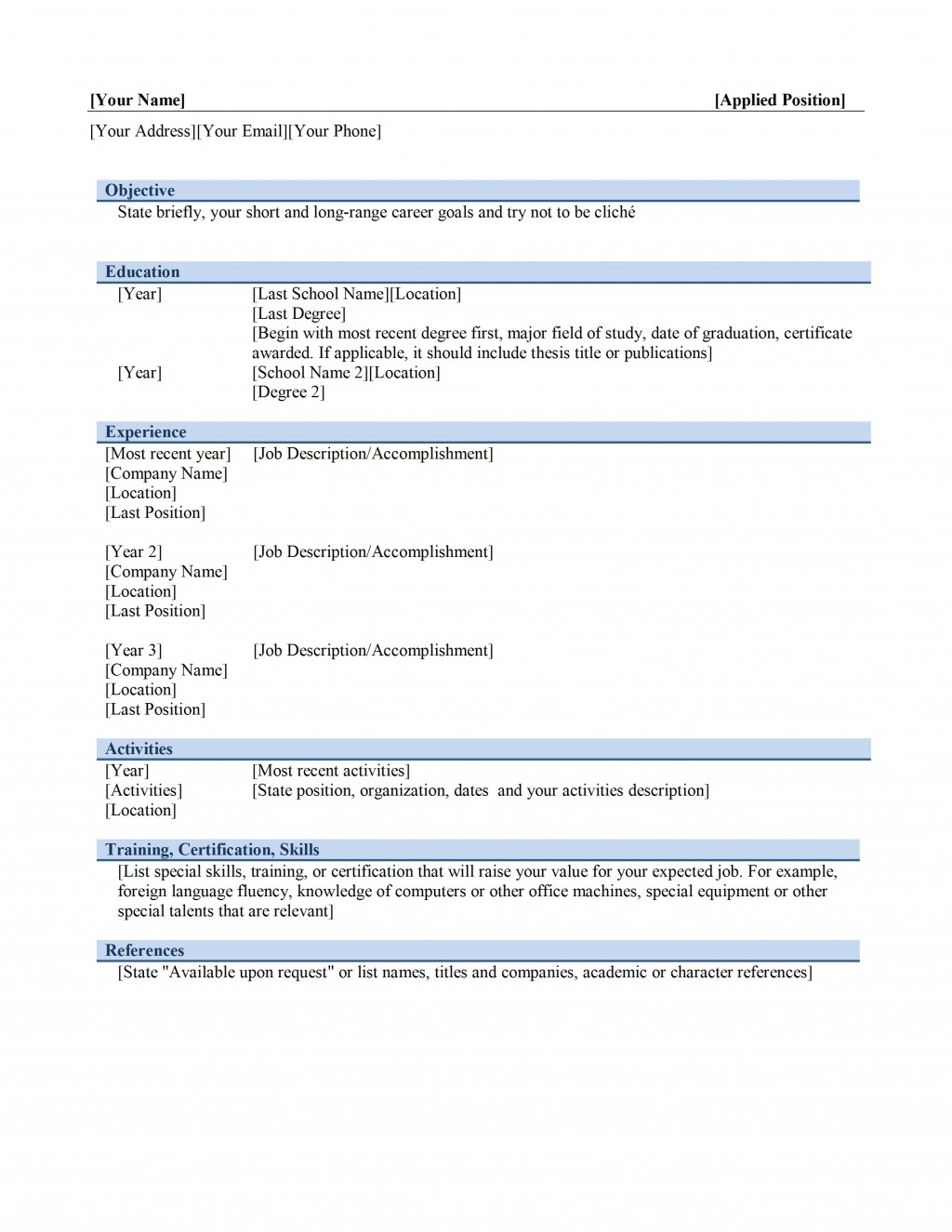 Resume Word Format Job Graphic Designer M  Ms Template Design Creative Free Download 2020Large
