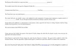 Room Rental Agreement Template Printable Realestate Form  Word Doc Malaysia Singapore Pdf