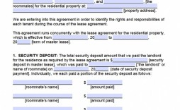 Room Rental Agreement Template Roommate Form  Word Doc Malaysia Singapore Pdf