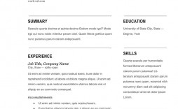 Simple Resume Template Free Download Best Cv Sample  Word Pdf For Student