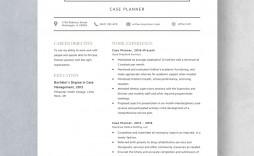 Template Case Planner Resume Idea