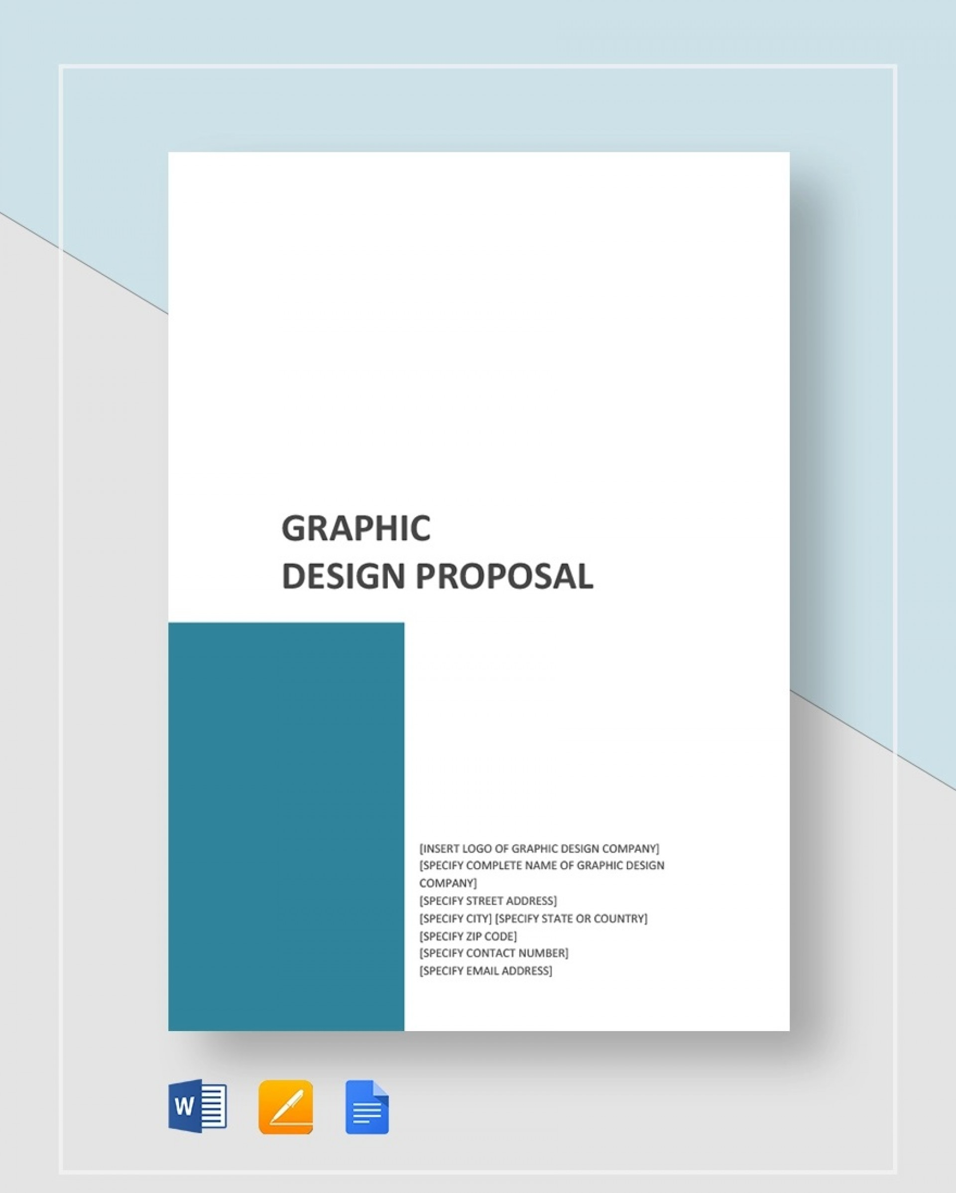 Template Graphic Design Proposal Idea  Free Freelance1920
