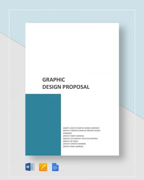 Template Graphic Design Proposal Idea  Free Doc Pdf480