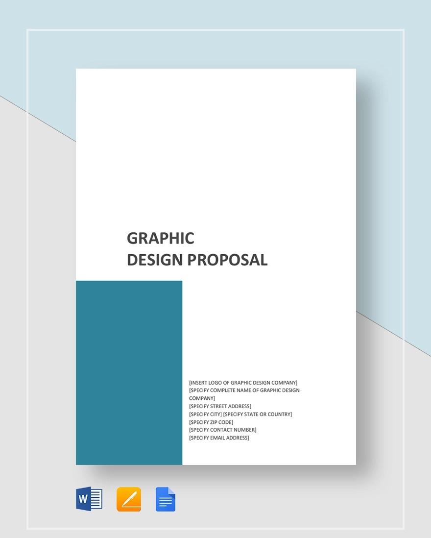 Template Graphic Design Proposal Idea  Sample Pdf Doc WordFull