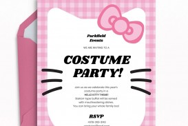 Template Hello Kitty Party Invitation  Birthday Invite Editable