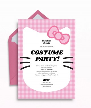 Template Hello Kitty Party Invitation  Birthday Invite Editable320