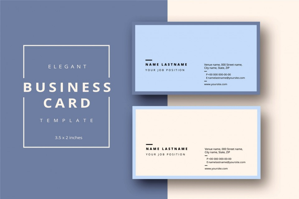 Word Busines Card Template Free Download  Microsoft 2007 Double Sided Blank960