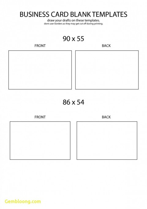 Word Busines Card Template Free Download Simple  Microsoft 2007 Double Sided Blank480