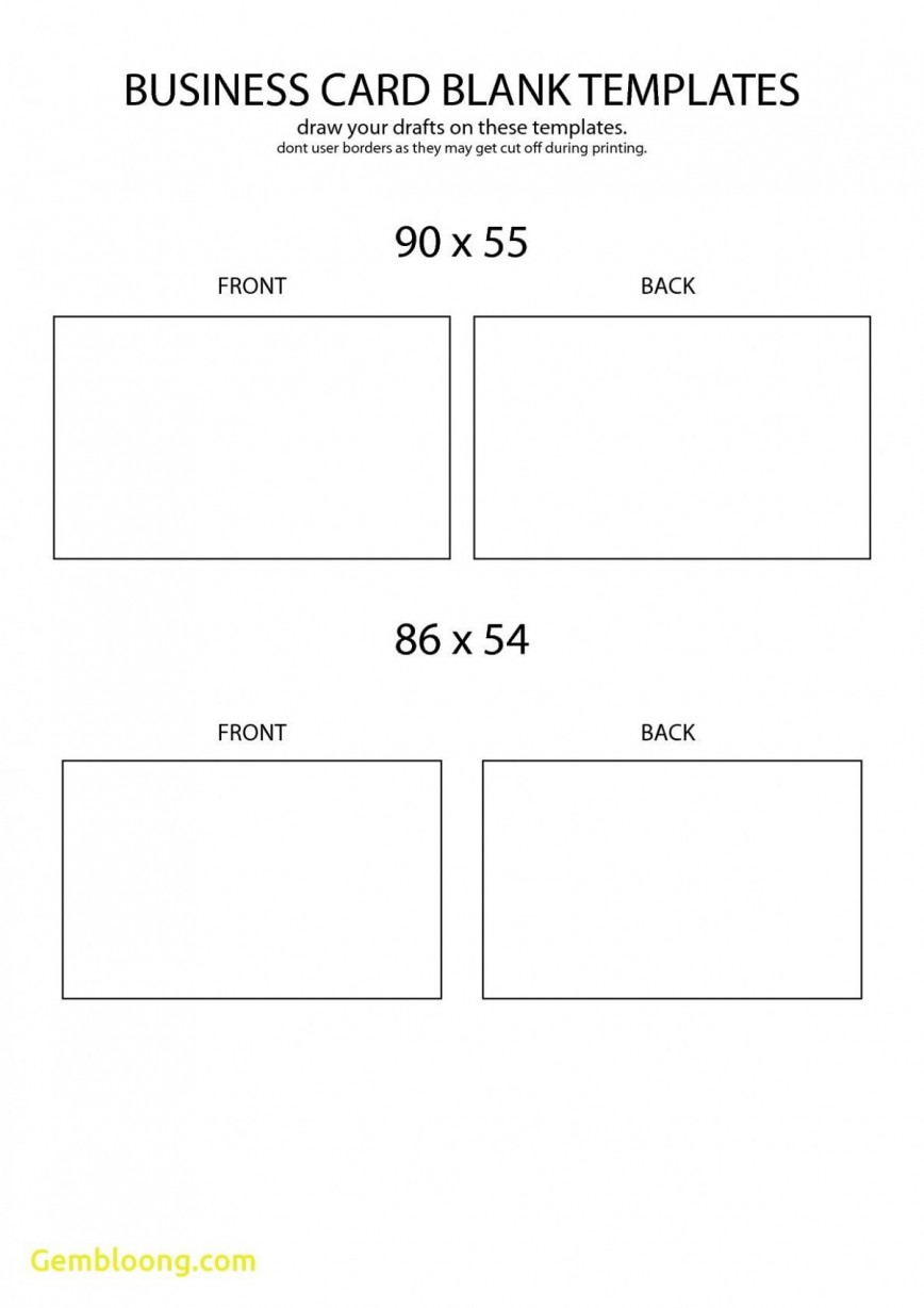 Word Busines Card Template Free Download Simple  Microsoft 2007 Double Sided Blank868
