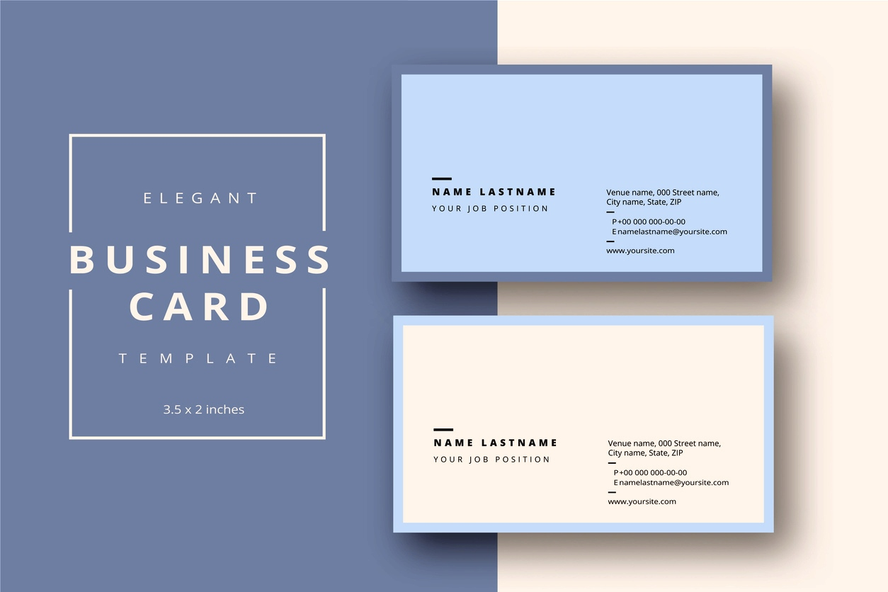 Word Busines Card Template Free Download  Microsoft 2007 Double Sided BlankFull