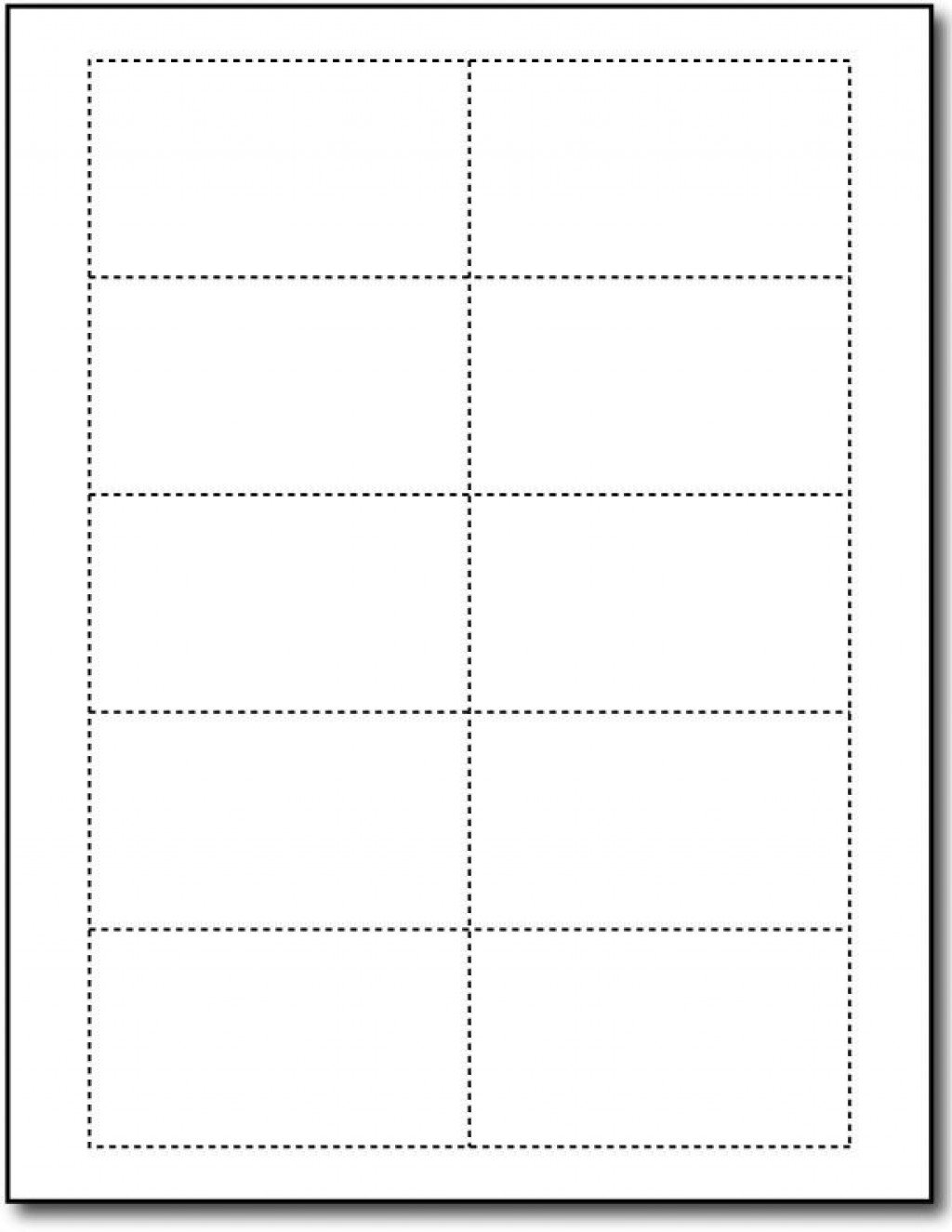 Word Busines Card Template Free Simple Download  Microsoft 2007 Double Sided BlankLarge