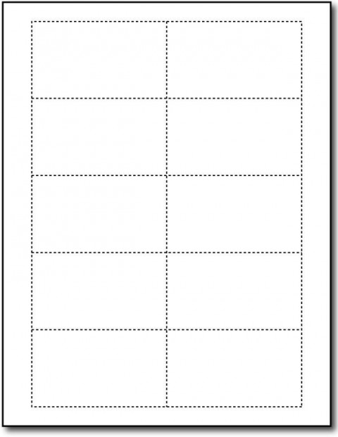 Word Busines Card Template Free Simple Download  Microsoft 2007 Double Sided Blank480
