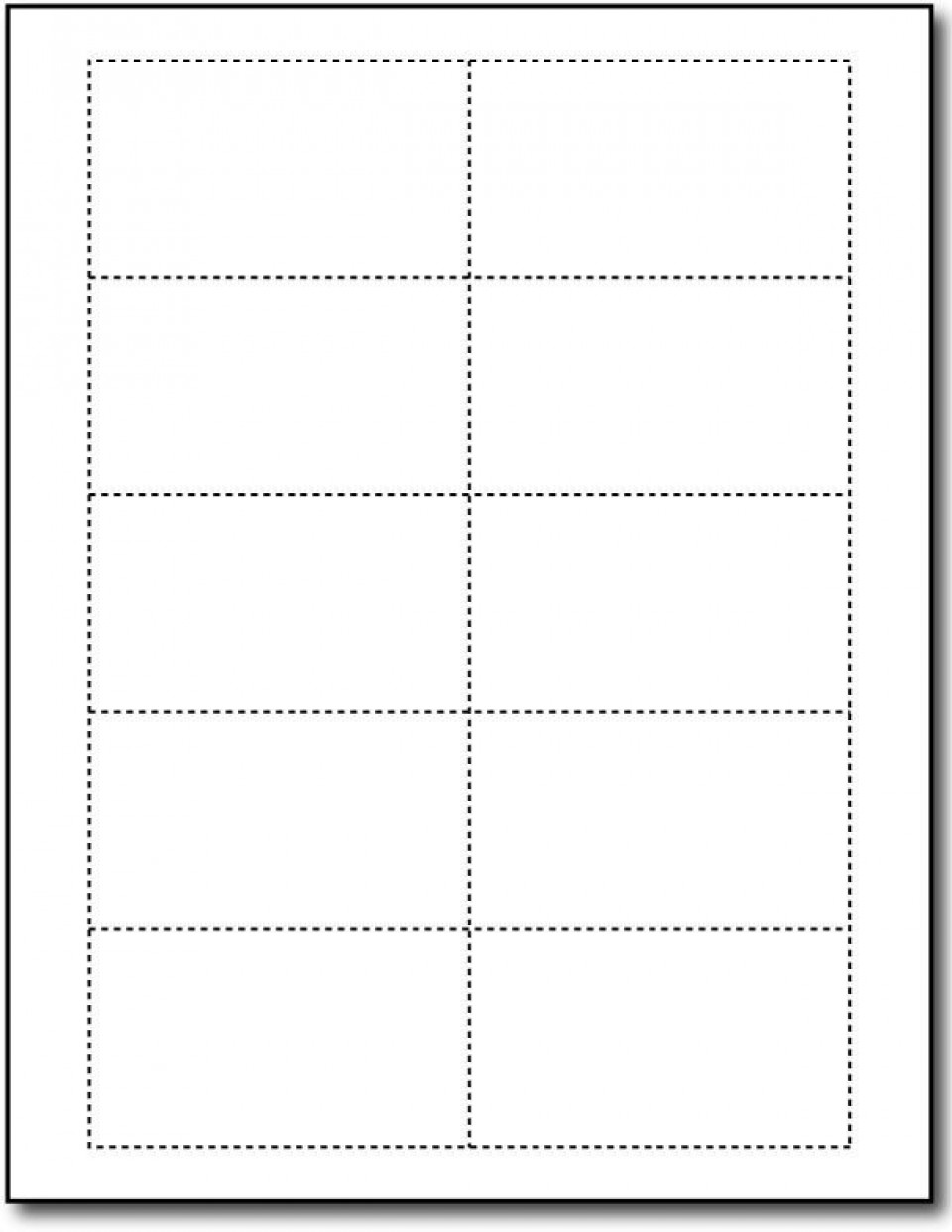 Word Busines Card Template Free Simple Download  Microsoft 2007 Double Sided Blank960